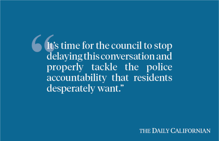 Berkeley City Council must stop avoiding the much-needed conversation about police oversight