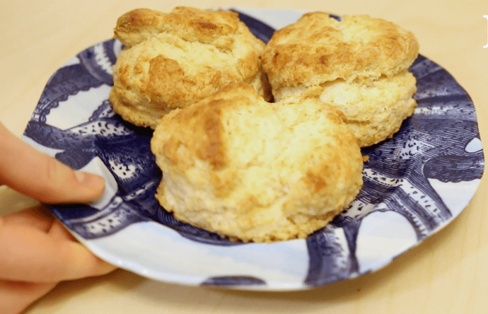 Fluffy and flaky sour cream biscuits