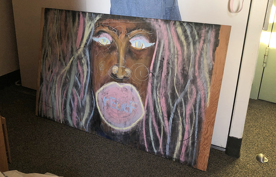 A painting from the past: Student finds mysterious art on Unit 1 bed frame