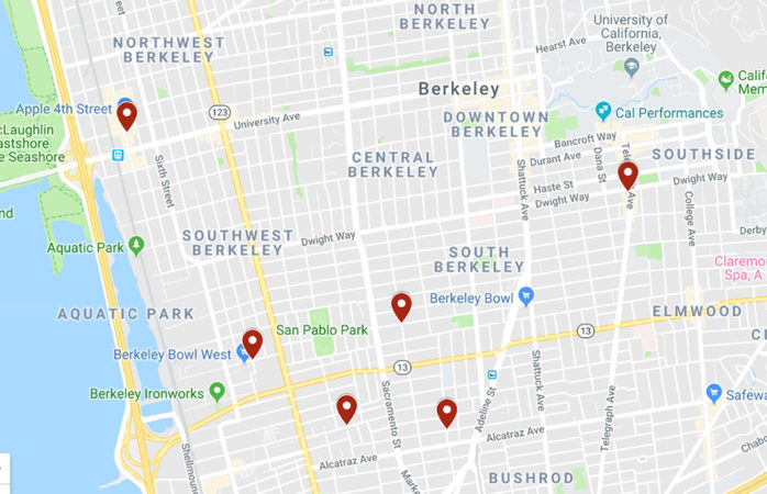 Community alert details six robberies within two days