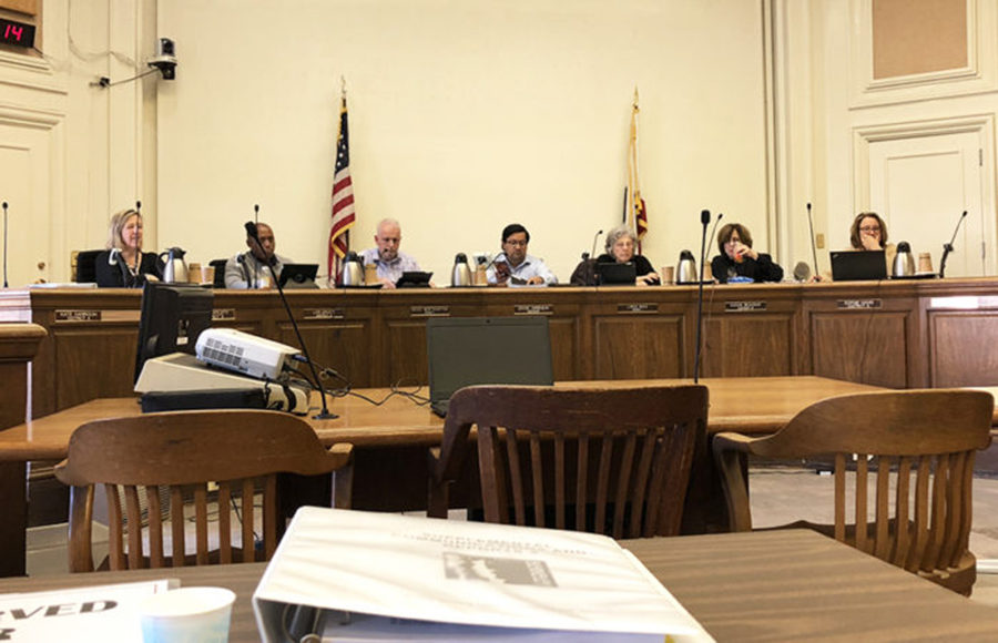 City council meeting takes place.