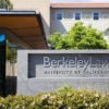 The sign of the Berkeley Law school.