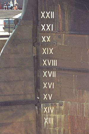 Roman Numbers on Cutty Sark