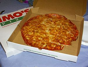A pizza from Imo's.