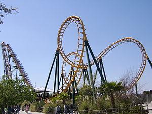 A Vekoma Boomerang roller coaster at Wild Adve...
