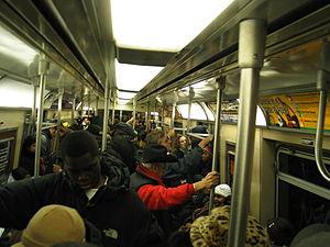 NYCSub 7 car interior (Photo credit: Wikipedia)