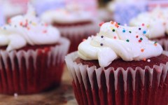 Last Minute 4th of July Dessert Ideas, red velvet cupcake