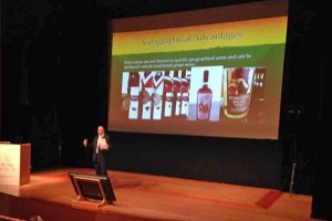 Speaking at WineVision in Bilbao, Spain