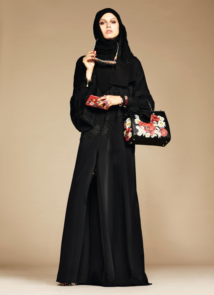 This minimalist abaya looks simple and chic - however for the price tag that it has, I think I'll pass.