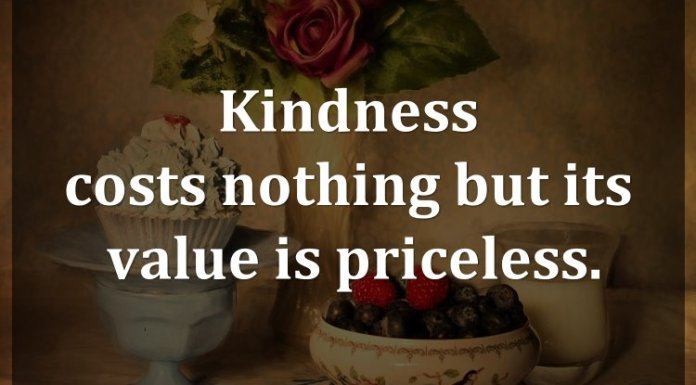 Kindness costs nothing but its value is priceless.