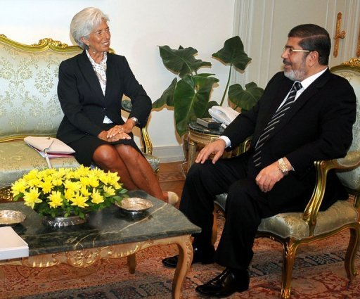 "Morsi described IMF as a ""testament to how capable Egypt is in transitioning economically, rather than a funding opportunity"". (AFP Photo /Egyptian Presidency)"