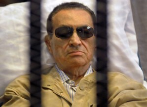 The retrial for former president Hosni Mubarak, his two sons, the former Interior Minister Habib Al-Adly and six of his aides will take place on 13 April (File Photo) (AFP Photo)