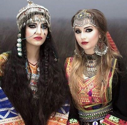 These are Afghani dresses