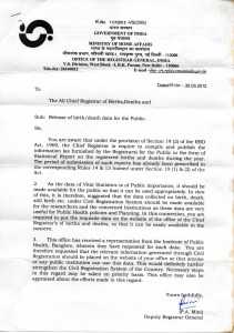 The Registrar General of India promptly responded with this instruction to all states. But since then...