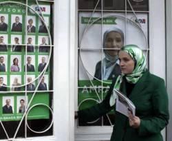 Amra Babic walikota Visoko, Bosnia. Foto tanggal 16 Oktober 2012. (AP Photo/Amel Emric)
