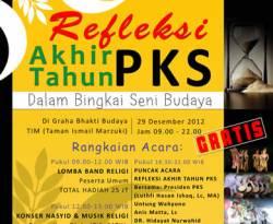 Cuplikan poster Refleksi Akhir Tahun PKS. (ist)