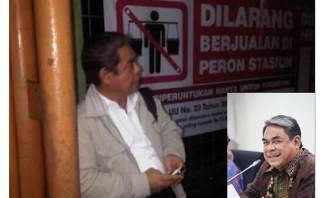 Ketua Fraksi FPKS, TB Soemandjaja saat menanti Kereta Api. (Tribunnews.com/@royyanaja)