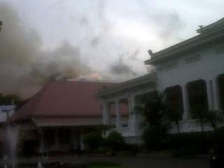 Musibah kebakaran di Gedung Sekretariat Negara, Kamis (21/3/2013). (detikcom)