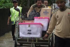 PKS Naik Becak ke KPU (ilustrasi)
