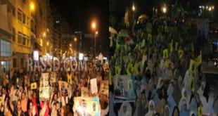 Warga melakukan demo malam hari, menuntut dihentikannya pemerintah kudeta dan kekejamannya (ikhwanonline)