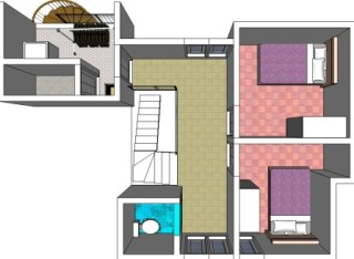 3 dimensi lantai 2