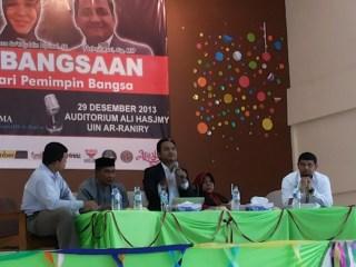 Dialog Kebangsaan di UIN Ar-Raniry Banda Aceh. Minggu,29/12/13 (Foto: M.Sufri)