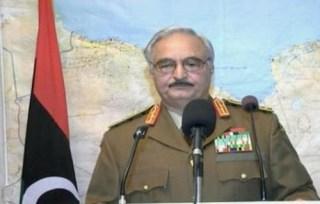 Khalifa Haftar saat mengumumkan kudetanya (elbilad)