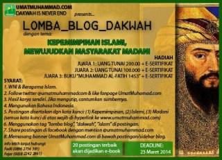 Pamflet lomba blog dakwah