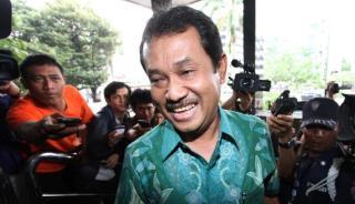 Bupati Bogor Rachmat Yasin yang ditangkap KPK di Bogor, Rabu (7/5) - (Foto: antara.com)