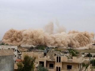 Peledakan markas militer di Idlib (Al-Arabia)