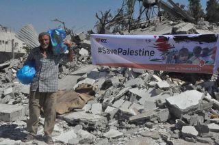 Rumah Zakat (RZ) mulai mengirimkan bantuan untuk rakyat palestina.  (twitter.com/rumahzakat)