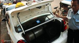 Konverter Kit pada kendaraan umum.  (liputan6.com)