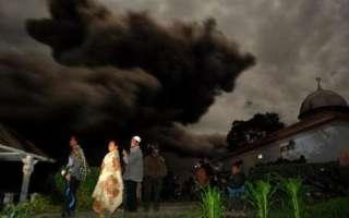 Awan Panas Gunung Sinabung.  (detik.com)
