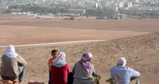 Pengungsi Suriah di perbatasan dengan Turki (Anadolu)