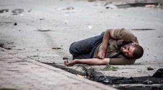 Salah seorang korban tembakan sniper di Suriah. (SNHR)