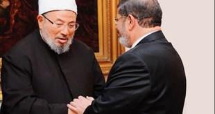 Syaikh Yusuf Al-Qaradhawi dan Presiden Mursi. (Ahramgate)