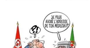Karikatur media Tunisia meledek Al-Sabsi dan Butafliqah (alyaoum24.com)