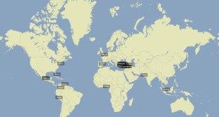Pembincangan tentang Presiden Mesir Muhammad Mursi di Twitter, Ahad (17/5/2015). (trendsmap.com)