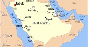 Ilustrasi. Peta daerah Tabuk di Arab. (wikipedia.org)
