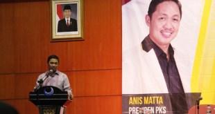 Presiden PKS, Anis Matta di acara pembekalan tenaga ahli Fraksi PKS, di Jakarta, Senin (8/6). (IST)