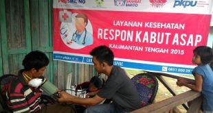 PKPU mengadakan pelayanan kesehatan bagi korban kabut asap di kalimantan. (ardani/kis/PKPU)