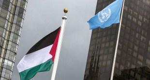 Pengibaran bendera Palestina di PBB (sindonews.com)