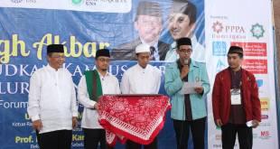 Deklarasikan Asosiasi Lembaga Alquran Mahasiswa Indonesia (ALQUMI) di Universitas Sebelas Maret (UNS) Surakarta, Ahad (6/12/15.  (Nurul Huda/UNS)