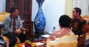 Presiden PKS M Sohibul Iman silaturrahim ke Istana Presiden RI, bertemu dengan Presiden Joko Widodo. (IST)