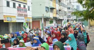 Longmarch PD KAMMI Medan tuntut 14 Februari jadi Hari Hijab Internasional. (IST)