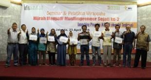Baitul Maal Hidayatullah ( BMH ) bekerja sama dengan Laziz Babussalam (sebagai Mitra Zakat BMH) menggelar seminar dan pelatihan wirausaha. (BMH)