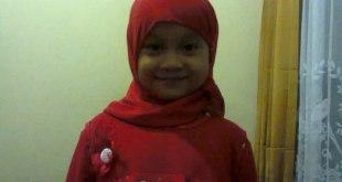 Syahidah Zang Lachtra atau biasa di sapa Syatrah (5 tahun).  (KNRPMedia)