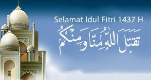 Ilustrasi - Selamat Idul Fitri, Taqabbalallahu minna waminkum. (wallpaperhd.pk / modifikasi: dakwatuna.com)