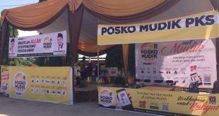 Posko Mudik PKS Palembang. (IST)