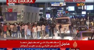 Rakyat turun ke jalan setelah upaya kudeta militer di Turki (aljazeera.net)